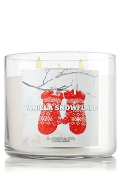 $20 Vanilla Snowflake 14.5 oz. 3-Wick Candle - Slatkin & Co. - Bath & Body Works