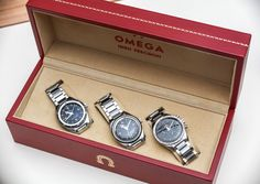"In case you missed our Hands-On with the new Omega 1957 Speedmaster, Seamaster, & Railmaster ""Trilogy"". You can find it on our website by typing ""trilogy"" in the search box."