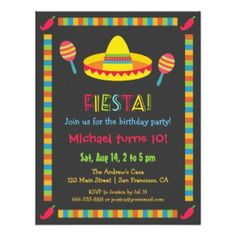 Start The Fiesta Right With This Perfect Birthday Invitation Kids Party Invitations 9th