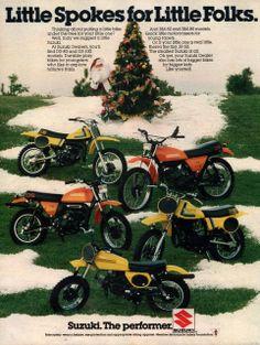 1978 Suzuki mini bike print ad Play Bike Little Spokes by Vividiom, $9.00