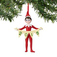 Department 56 Elf on The Shelf Dated Banner Ornament