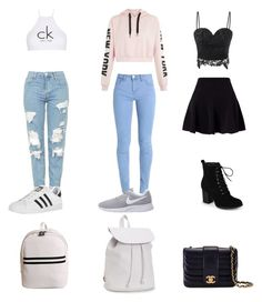 """""""Untitled #2"""" by karolinakarolina-1 on Polyvore featuring Topshop, Miss Selfridge, Calvin Klein, NIKE, Journee Collection, adidas, Chanel and Aéropostale"""