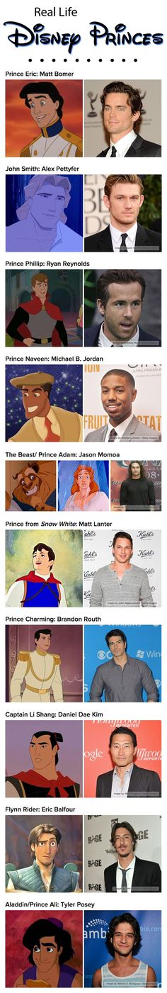 I agree with most of these. I mostly don't agree with Flynn, I think the guy who did his voice would be perfect (Zachary Levi) and I think it could be someone else for Naveen.
