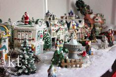 Katerina Theodore Photography   Christmas town #holiday #Christmas #decor #village #sleigh #fun #tradition #town #cityhall #fountain #Christmastree