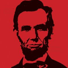 Abraham Lincoln -  print on canvas - 8/8 inches. Pop art leader portrait.