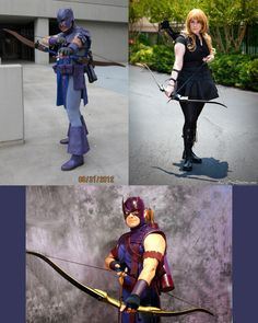 Hawkeye has, over time, have many renditions of costumes, and so fans have answered. From left Todd, Ashley & Jason.     Todd's photo by Bodhi Tree Photography. Ashley's photo by Angrydogstudios.com.    Marvel's use of all photos are governed by the Marvel.com Terms of Use and Privacy Policy. Thank you for all you have submitted your photos! We are no longer accepting cosplay submissions for Costoberfest 2012!