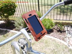 SALE bike gift iPhone holder- Bicycle iPhone 7/6S/6/SE Plus Holder in Brown Leather. bike accessories beach cruiser, personalized bike mount by ArchetypeZ on Etsy https://www.etsy.com/listing/385974606/sale-bike-gift-iphone-holder-bicycle