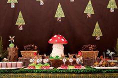 Woodland party - I love the mushroom cake