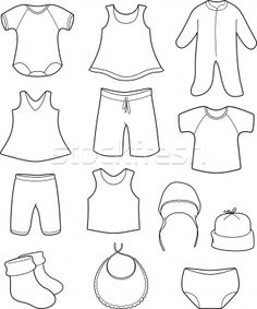Baby Clothe Coloring Pages To Print Clothing Colourin