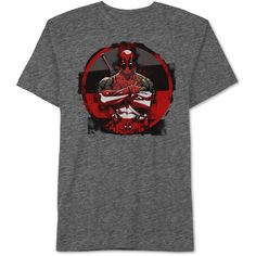Men's Deadpool Four Block Graphic-Print T-Shirt from Jem ($13) ❤ liked on Polyvore featuring men's fashion, men's clothing, men's shirts, men's t-shirts, charcoal snow, mens t shirts, mens crew neck t shirts, mens graphic t shirts, mens color block shirt and mens short sleeve shirts