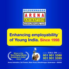 Winner of the Best Digital Media Academy in India Award Arena Dilsukhnagar Learn Animation, Digital Media, Hyderabad, Multimedia, Train, Teaching, Learning, Education, Teaching Manners