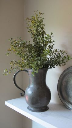 Lovely display using pewter pitcher