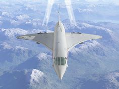 Concorde at speed and altitude - beautiful