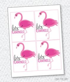 FREE Printable Flamingo Party Favors by Love The Day
