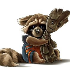 'Guardians Of The Galaxy' Groot Fan Art.--- what's great is that in the 10 one, Vin Diesel voices Groot and The Iron Giant Ms Marvel, Marvel Dc Comics, Fanart, Gardians Of The Galaxy, Lapin Art, Avengers, Hiro Big Hero 6, Comic Art, Comic Books
