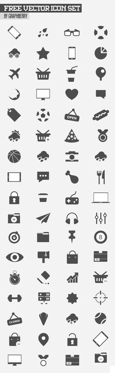Free Vector Icon Set - 80+ Icons #freeicons #freepsdicons #lineicons #vectoricons #outlineicons