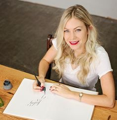 At just 25 years old, calligrapher Molly Jacques' illustrative work has already been featured in the holy grail of the Type Tattoo, Martha Stewart Weddings, Skin Care Tools, 25 Years Old, Powerful Women, Girl Boss, Illustrator, Marriage, Office Chic