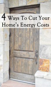 4 Ways to cut down on your home's energy costs