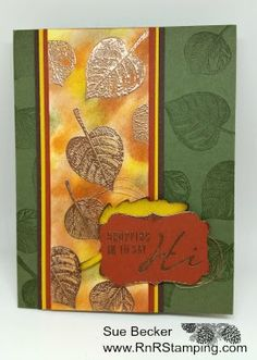 RnR Stamping - SU - Fall, Autumn - Vintage Leaves, sentiment is from Acorny Thank You
