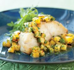Grilling pineapple brings out a natural sweetness while layering in deep smoky flavour at the same time. Try it out with this Spicy Pineapple Salsa to top a grilled black cod. alive.com