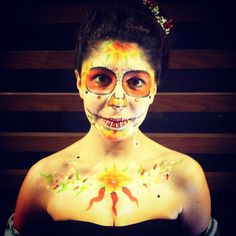 """"""" Hot Sugar Skull """" vince il 2° concorso di Miss FacePainting Follonica 2016"""