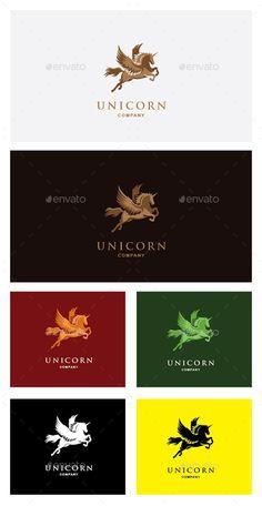 Unicorn Logo Template Editable Logo Vector Illustrator / & Drop Vector Any model templates No Stroke High Resolutio Sign Design, Web Design, Unicorn Companies, Pegasus Logo, Fantasy Logo, Create Logo Design, Unicorn Logo, Illustrator Cs5, Crest Logo