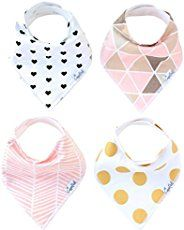 DIY Baby Bandanna Bib Pattern: Make your own baby bandanna bib.  This is so easy and fun to make.  They make great gifts for little guys or gals in your life...