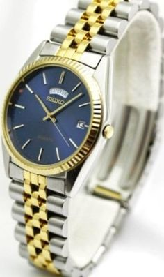 Seiko Watches Seiko Two Tone Mens Watch SGF210 >>> Click image to review more details.