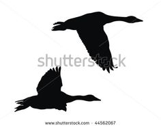 Flying goose silhouette Free vector for free download about (5 ...
