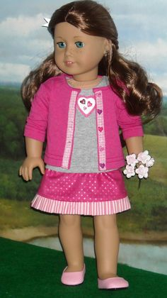 Valentine's Day Outfit for 18 inch Girls like Saige & others. $39.00, via Etsy.