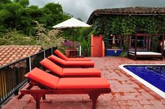 Hotel in the Colombian coffee region. Colombian Coffee, Patio, Outdoor Decor, Home Decor, Decoration Home, Room Decor, Home Interior Design, Home Decoration, Terrace