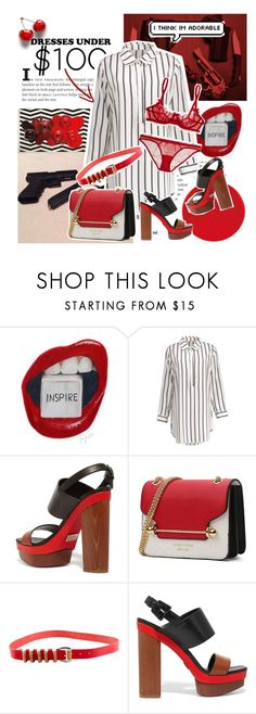 """As Hot As Red"" by najyuma ❤ liked on Polyvore featuring Michael Kors, Balmain, L'Agent By Agent Provocateur and under100"