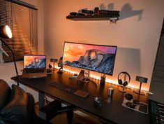 15 Awesome Design On Your Workspace You Must Try Home Office Setup, Home Office Space, Home Office Design, Home Interior Design, House Design, Office Decor, Computer Desk Setup, Gaming Room Setup, Pc Setup