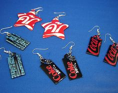 Aluminum can earrings!