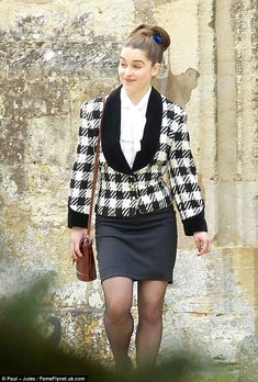 Emilia Clarke shooting the drama Me Before You in Oxford, England