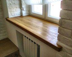 Деревянный подоконник для пластикового окна
