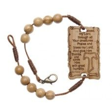 St Francis Tau Prayer Olive Wood Bracelet