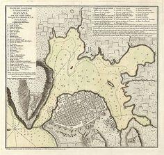 Plano de la ciudad y puerto de la Habana, 1785