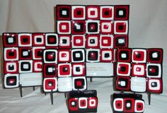 Fused Glass Custom!  Awards and Business Card Holders