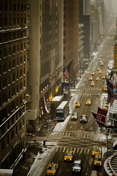 Snowy Manhattan, New York