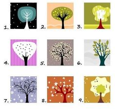 I found this great personality test here. The link is in Russian, but I will translate for you. Here is the test. Look at the tree and choose the one that is immediately most appealing to you. Don'...