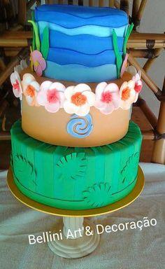 Festa Moana: Mais de 50 ideias para decoração – Inspire sua Festa ® 5th Birthday Party Ideas, Moana Birthday Party, Hawaiian Birthday, Moana Party, Party Themes, Moana Disney, Little Girl Birthday, Baby Birthday, Baby Cupcake