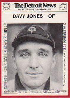 1981 Detroit News Detroit Tigers #19 Davy Jones Front