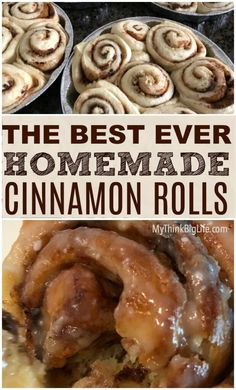 This easy Copycat Cinnabon Cinnamon Rolls Recipe is delicious and is even better than Cinnabon. These Cinnamon Rolls will have your family singing your praises! They're great for breakfast or dessert! Cinammon Rolls, Cinnabon Cinnamon Rolls, Cinnamon Bun Recipe, Best Cinnamon Rolls, Easy Homemade Cinnamon Rolls, Cinnamon Roll Recipes, Bread Machine Cinnamon Rolls, Homemade Yeast Rolls, Overnight Cinnamon Rolls