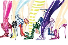 Manolo Blahnik Illustration