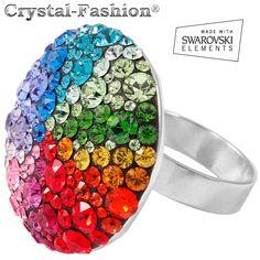 Flat Chaton Ring Rainbow