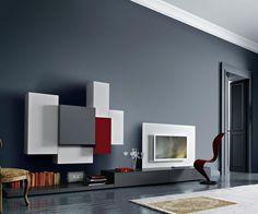 Moderne Bucherregale Buffets Acerbis | Die 93 Besten Bilder Von Tv Wohnwande Apartment Ideas