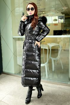 women Down Coat Parkas Winter Jacket Women Fur Collar Thickening Ultra long Windproof white Duck down jacket outerwear coat-in Parkas from Women's Clothing & Accessories on Aliexpress.com   Alibaba Group