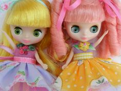 Mothers Day Special..Two New Petite Blythe Doll Dresses...Handmade and ooak