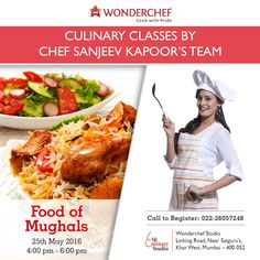 Experience the Royal delights of Moguls with Chef Sanjeev Kapoor 's expert team.Register Now!